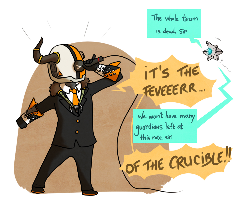 Lord Shaxx in the Crucible