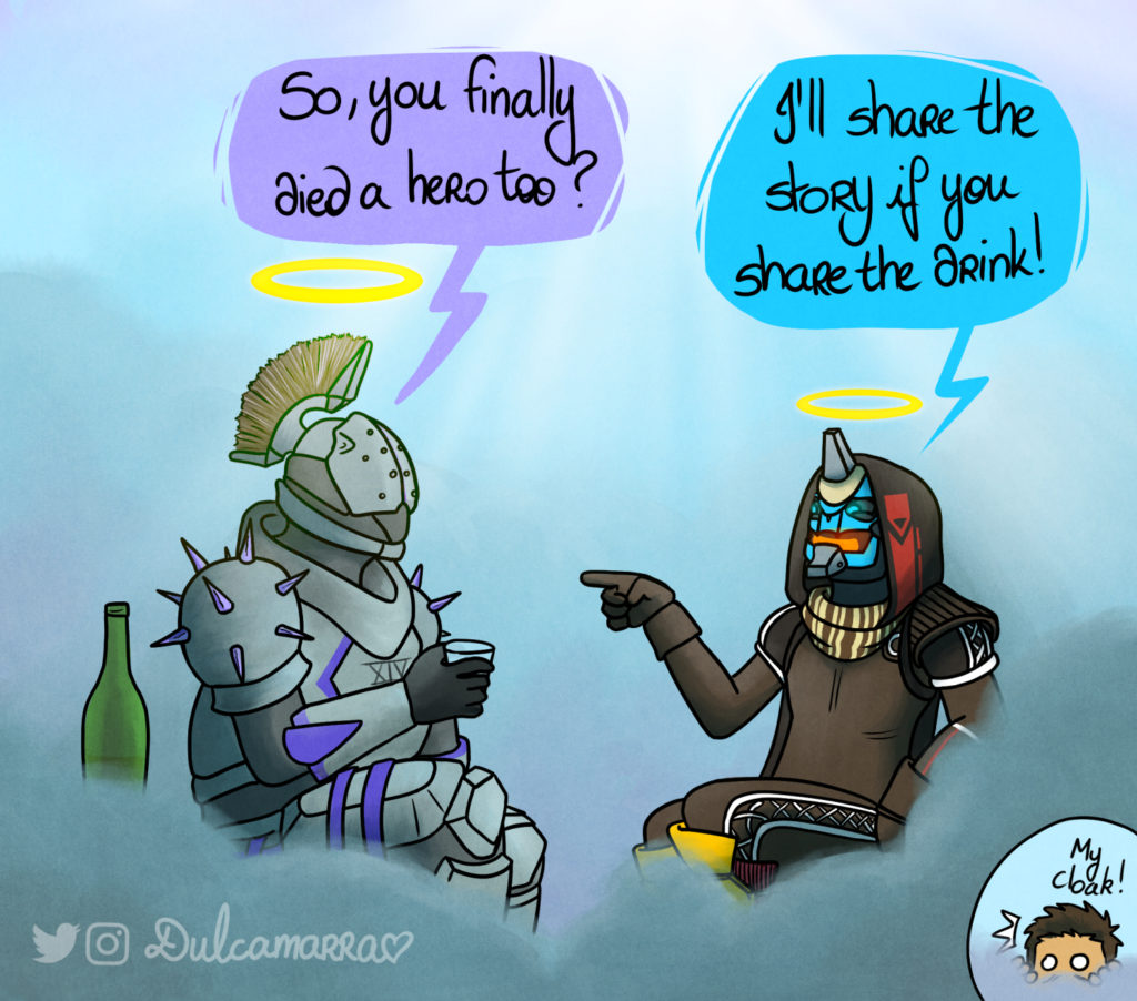 Cayde-6 meets Saint-14 in Exo paradise