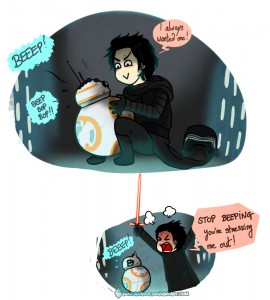 Kylo Ren and BB-8