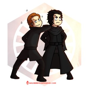 Kylo Ren and General Hux posing