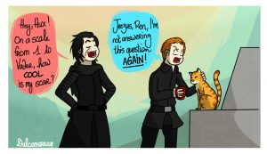 Kylo Ren asks General Hux how cool his scar is