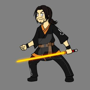 Seith as a lightsaber teacher