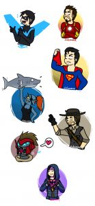 Nightwing IRon Man superman Undyne John Marston Destiny Dreg Hibana