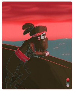 Blackbeard from Assassin's Creed 4 Black Flag with a given color palette