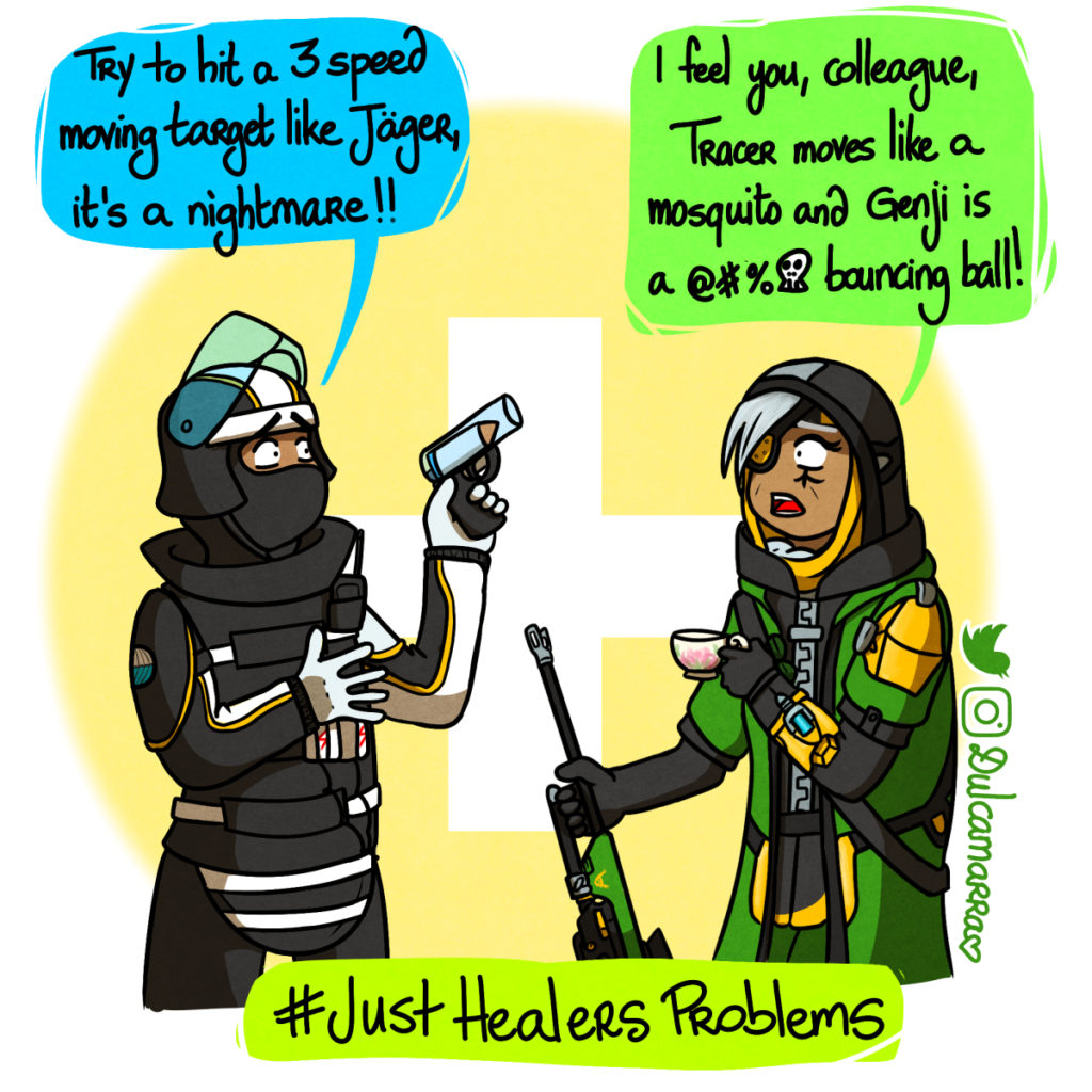 Ana and Doc discussing their issues about being a healer