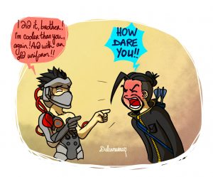 Blackwatch Genji being cooler than Hanzo