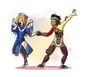Genji dancing with Mercy