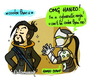 Hanzo and Genji from Reflection comics