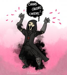 Reaper in happy blossom