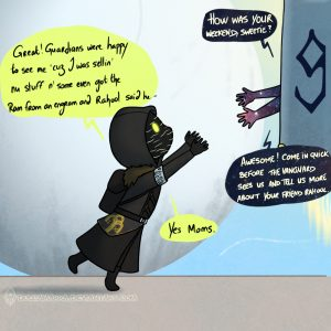 Xur being picked up after the weekend