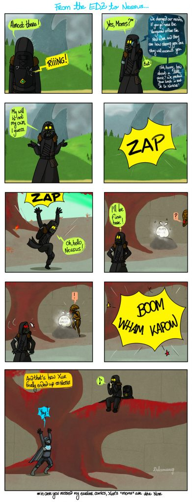 Xur finds his way from the EDZ to Nessus