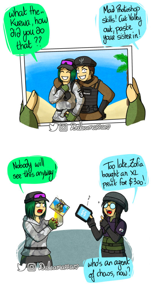 Dokkaebi photoshops Ela and Zofia together on a picture