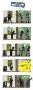 Doc counter fuzing Fuze in Rainbow Six Siege
