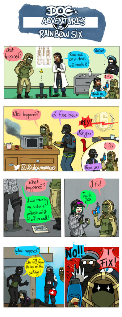 Kapkan fixes everything with his drill... But must be stopped at some point !