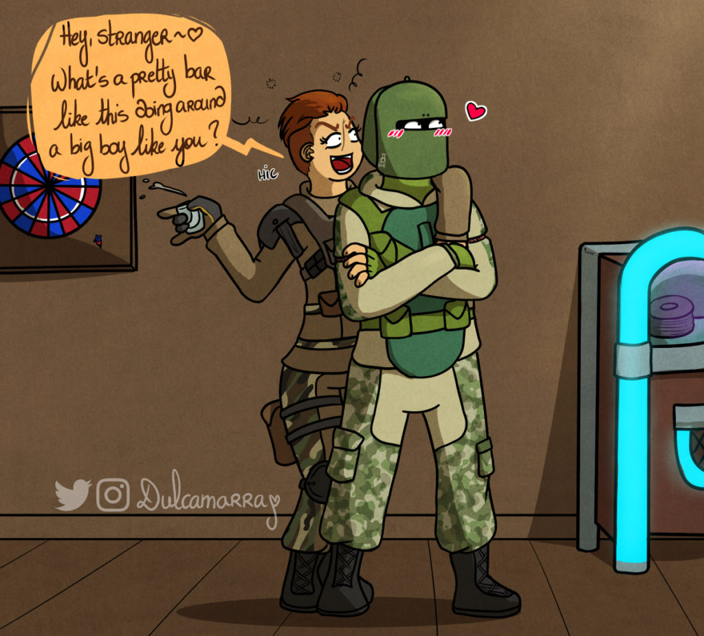 Finka flirting with Tachanka