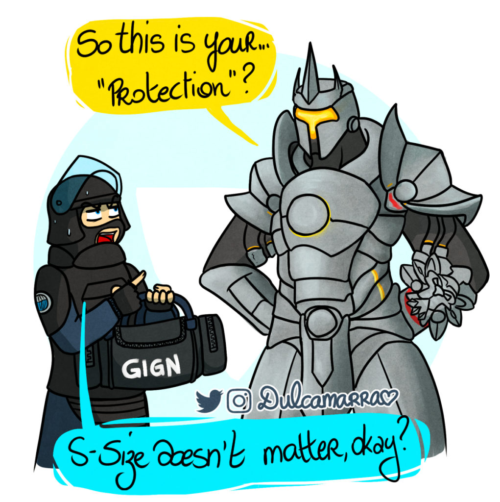 Rook and Reinhardt are comparing their protection