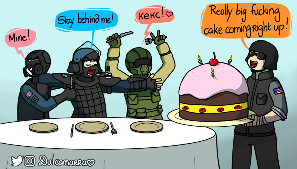 Montagne Fuze and Mute's birthday with a really big fucking cake coming right up