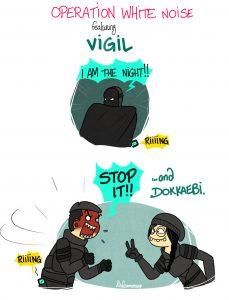 Dokkaebi trolling Vigil with his phone