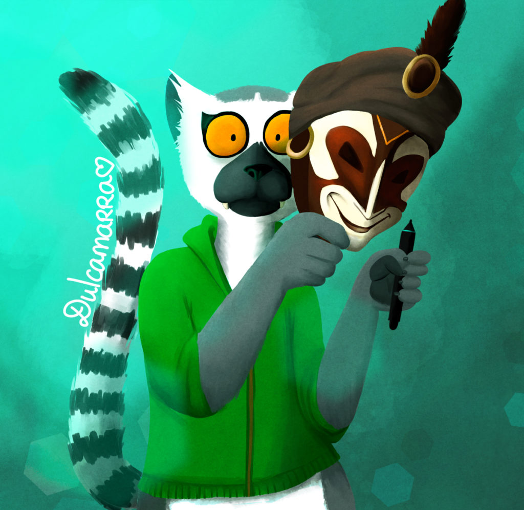 Dulcamarra the jester lemur