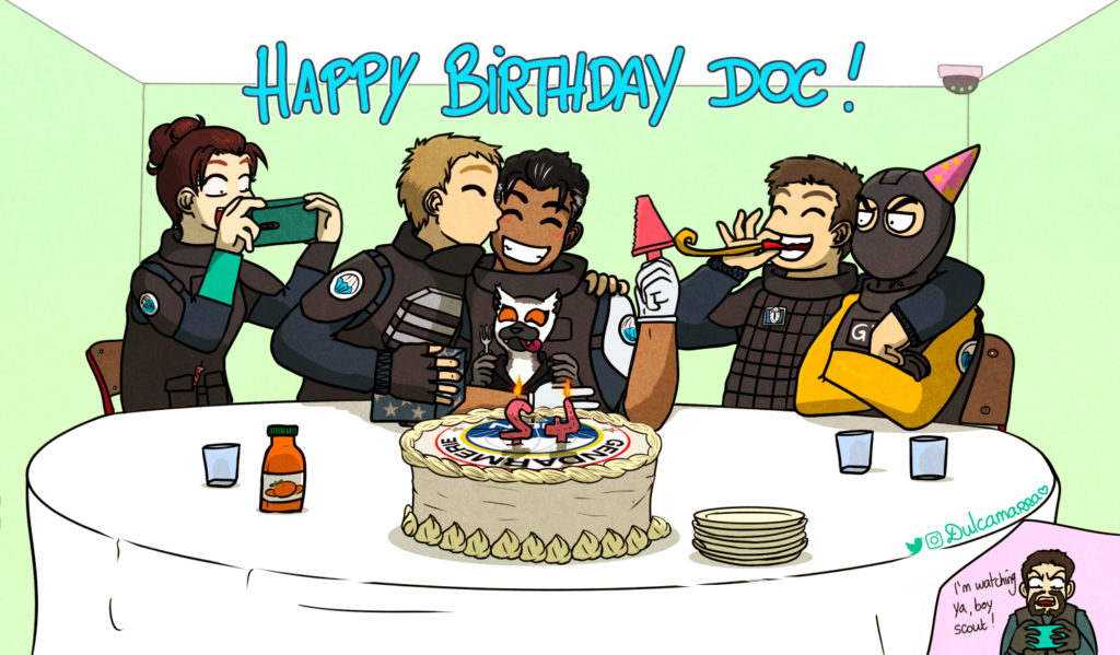 Doc's 42nd birthday with all GIGN ops