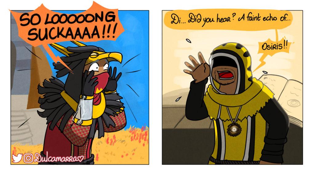 "Osiris yelling ""SO LONG SUCKER"" to Brother Vance"