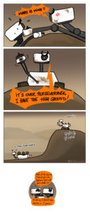 Perseverance Rover meeting curiosity
