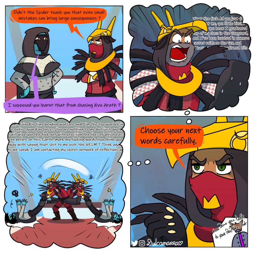 Crow talking shit to Osiris