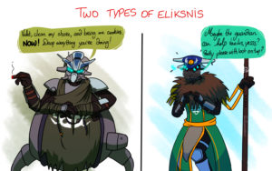 Two different types of Eliksnis