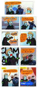 "Dulca discovers the term ""clam slam"""